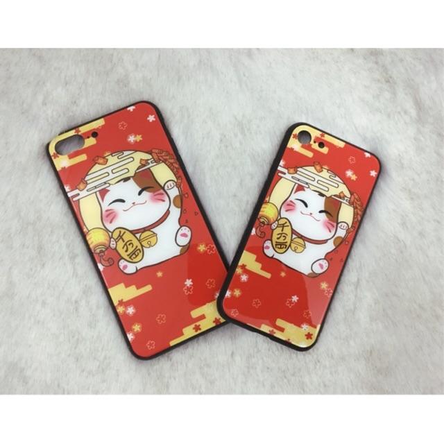 Ốp lưng mèo thần tài 2018 mặt tráng kính - Cho iPhone