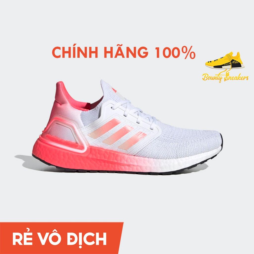 Giày Sneaker Thể Thao Nữ Adidas Ultra boost 20 W  Trắng Hồng EG5201 - Hàng Chính Hãng - Bounty Sneakers