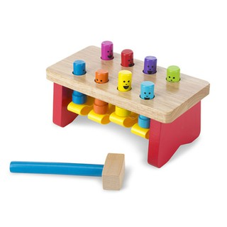 [Melissa & Doug] Wooden Deluxe Pounding Bench (education toys kids montessori educational Melody Sound learning dolls)