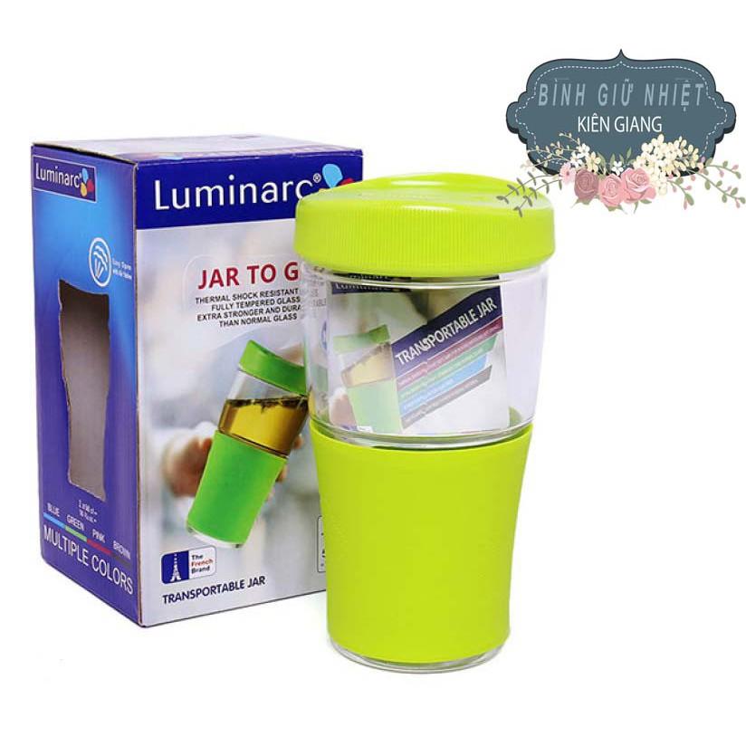 Ly Thuỷ Tinh 500ml Có Nắp Luminarc Transportable