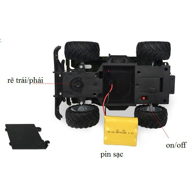 [FOLLOW SHOP 9K – 10H, 21/9 ]Xe jeep off-road leo núi điều khiển từ xa (254) shopgiadung38438