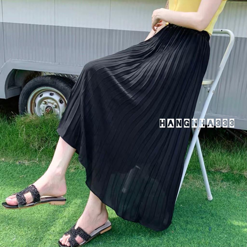 ⭕LOẠI 1 || Chân váy dáng dài dập ly basic đơn giản dễ phối đồ ULZZANG (Hình thật cuối)