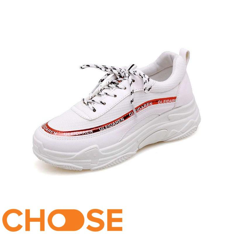 [Mã FASHIONXANH44 giảm 10% tối đa 30k đơn từ 99k] Giày Nữ MỚi Thể Thao Sneaker Choose Độn Đế ULZANG Phối Viền Chữ G2904