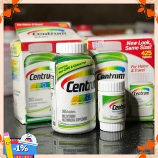 [kho VN] Vitamin Tổng Hợp Centrum Adults Dành Cho Nam Nữ Dưới 50 Tuổi – 425 Viên