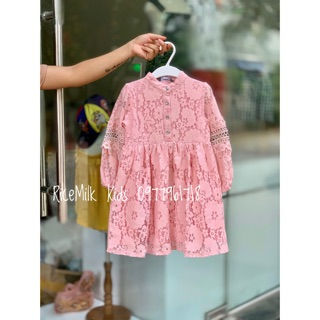 Váy Ren Mềm Màu Hồng Pastel