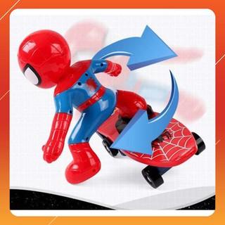 [CỰC ĐẸP] Đồ chơi người nhện trượt ván cho bé