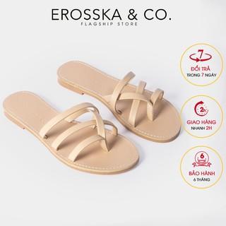 [Mã FASHION10KP giảm 10K đơn 50K] Dép nữ xo ngo n thời trang Erosska thiết kế phối dây trẻ trung ma u nude _ DE031 thumbnail