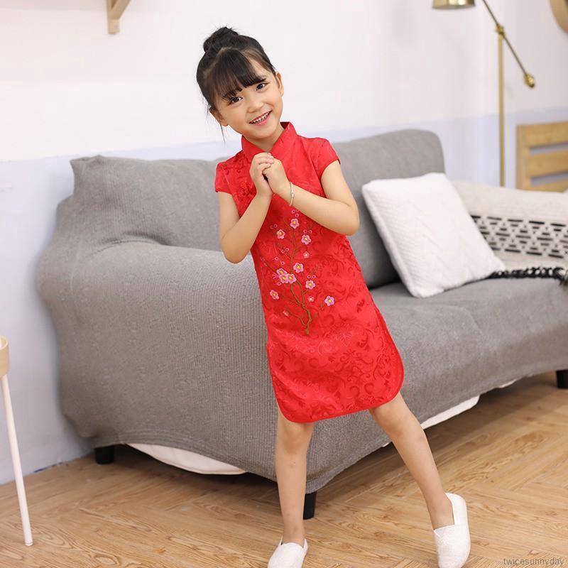 Đầm sườn xám phong cách Trung Hoa xinh xắn dành cho bé gái