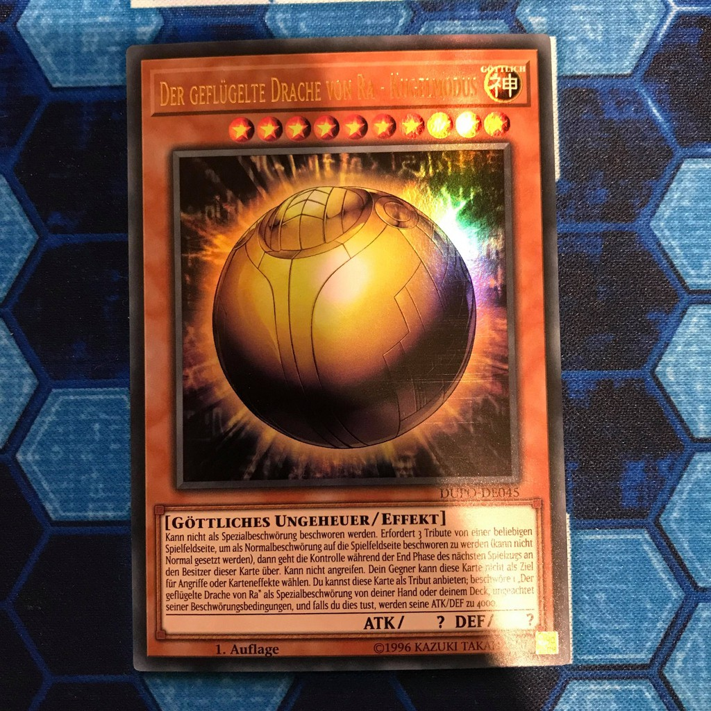 Thẻ bài YUGIOH – The Winged Dragon of Ra – Sphere Mode – DUPO-EN045 – Ultra Rare