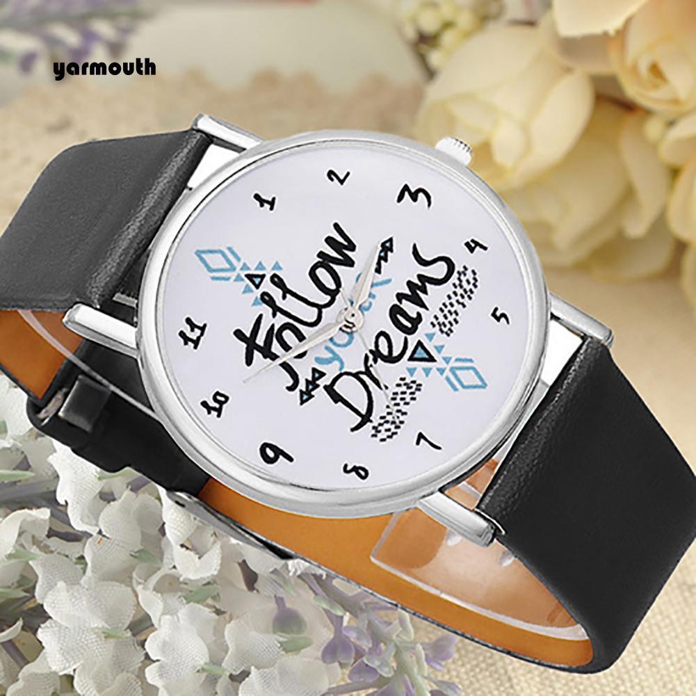 Đồng hồ đeo tay dây da giả thời trang xinh xắn cho nữ