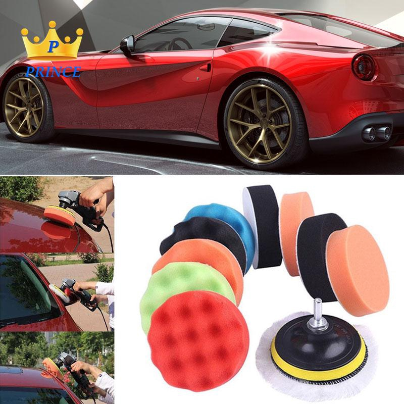 Ready Stock Polishing Foam Car Buffing Sponge 12pcs/Set Auto 4inch