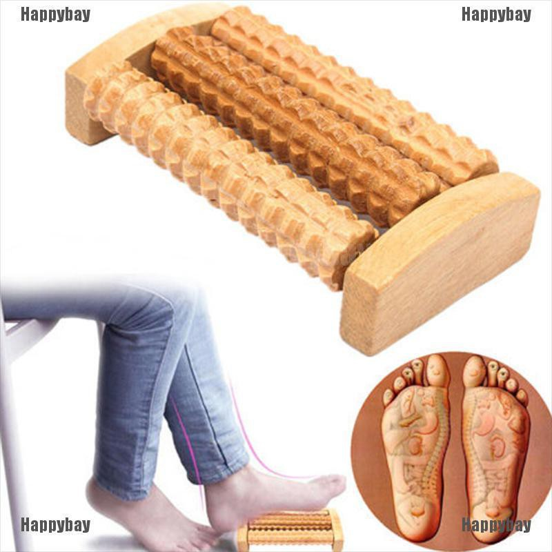 Happybay Handheld-Wooden-Roller-Massager-Reflexology-Hand-Foot-Back-Body-Therapy-Relax