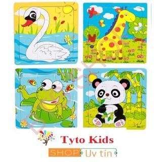 [GIÁ SỐC] Đồ chơi tranh ghép gỗ 9 miếng hình động vật cho bé