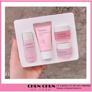 [Freeship Hàng Auth] Bộ Dưỡng Trắng Da - Bộ dưỡng da chiết xuất Từ Hoa Anh Đào Innisfree Jeju Cherry Blossom Kit thumbnail
