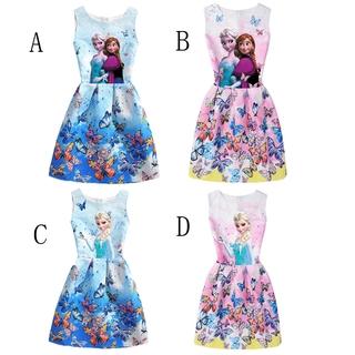 Đầm Hóa Trang Công Chúa Elsa Anna Hoạt Hình Cho Bé Gái 2-8 Tuổi