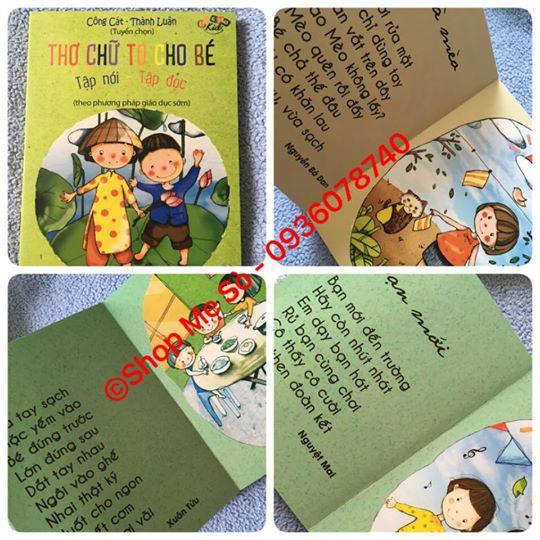 Thơ chữ to cho bé tập đọc, tập nói