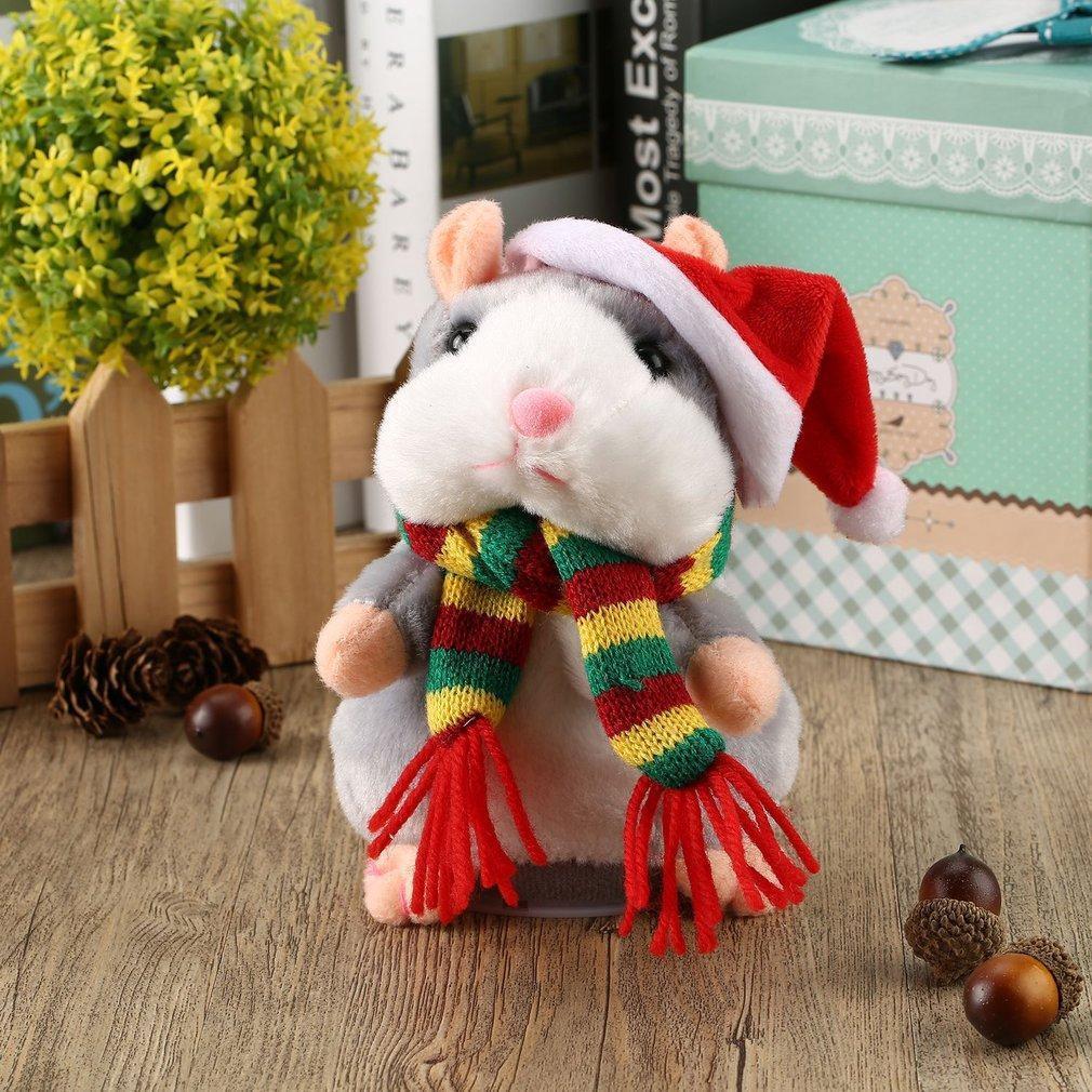 Funny Walking Talking Speaking Nodding Hamster Plush Toy Animal Kids Toy GN