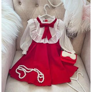 Váy Bé Gái Chất Nhung Dáng Công Chúa Baby Doll [V09] - Babi mama
