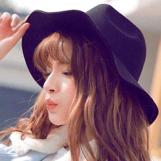 ใหม่ผู้หญิงเกาหลีหมวกป่าไหลม้วนผม
