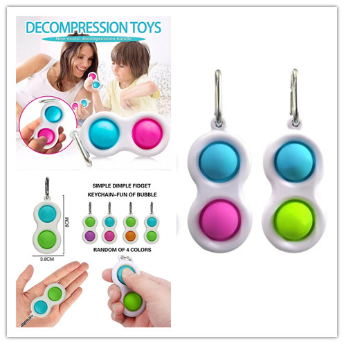 1 PCS New Finger Pressure Relief Bubble Mini Foxmind Silicone Portable Keychain Accessories Key Chains