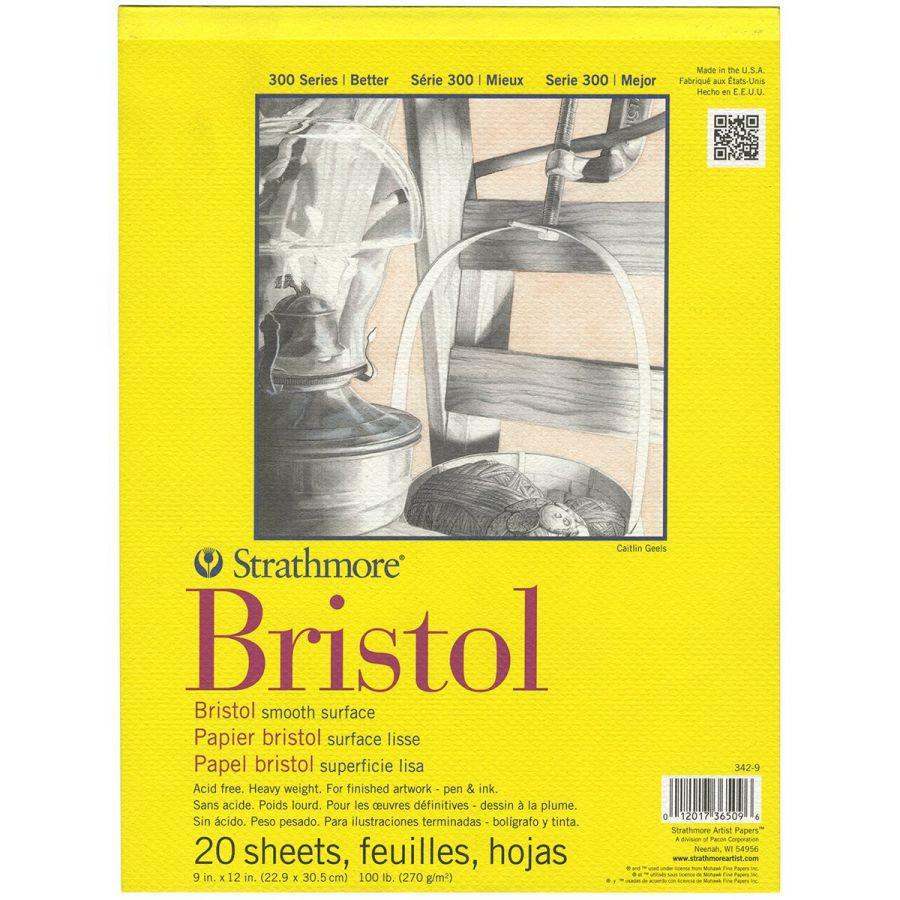 Sketchbook Pad Strathmore Bristol Smooth 300 Series Chuyên Vẽ Truyện Tranh Và Marker 270gsm A4 (23cm x 30.5cm) Cao Cấp