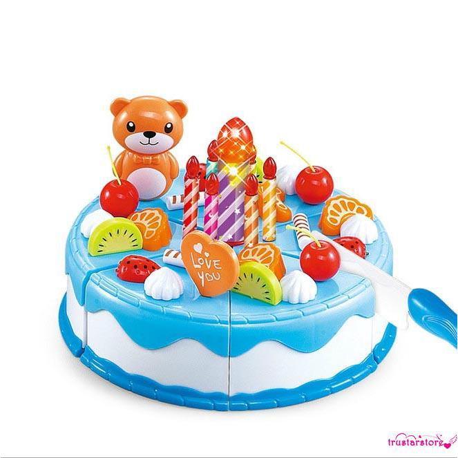 ✦ZWQ-Hot ! 37Pcs Baby Girl Boy Fruit Birthday Cake Gift Cookie Cupcake