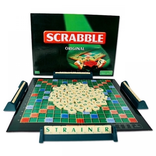 Scrabble Tile Crossword Board / Family Game (sahibba) Early Learning Toys Mainan Budak 玩具 For Kids