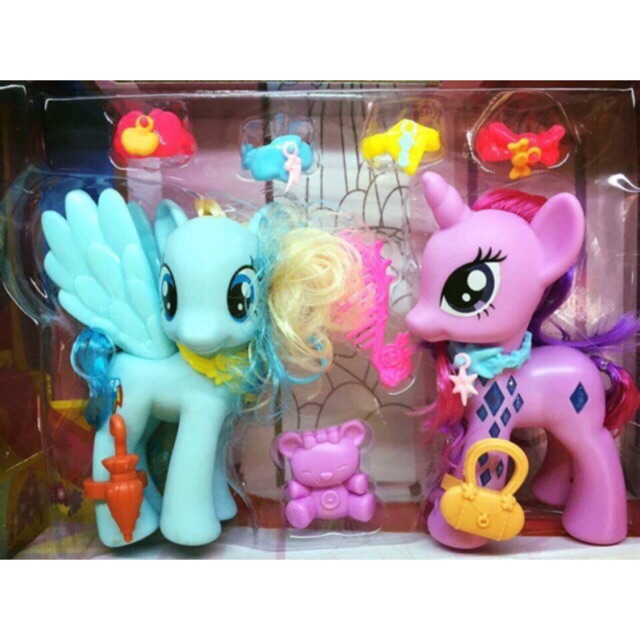 Ngựa pony đôi có nhạc đèn 180k