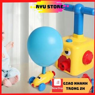 Đồ chơi cho bé❤️𝑭𝑹𝑬𝑬𝑺𝑯𝑰𝑷❤️Đồ chơi bơm bóng (1 bơm bóng đua xe,1 xe bóng bay)- phát triển khả năng vận động và tư duy trẻ