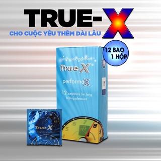 [HOT] Bao Cao Su Cao Cấp True-X PerfomaX (Hộp 12c) Dòng Bcs Nổi Tiếng Về Hiệu Quả Kiểm Soát Thời Gian Siêu Vượt thumbnail