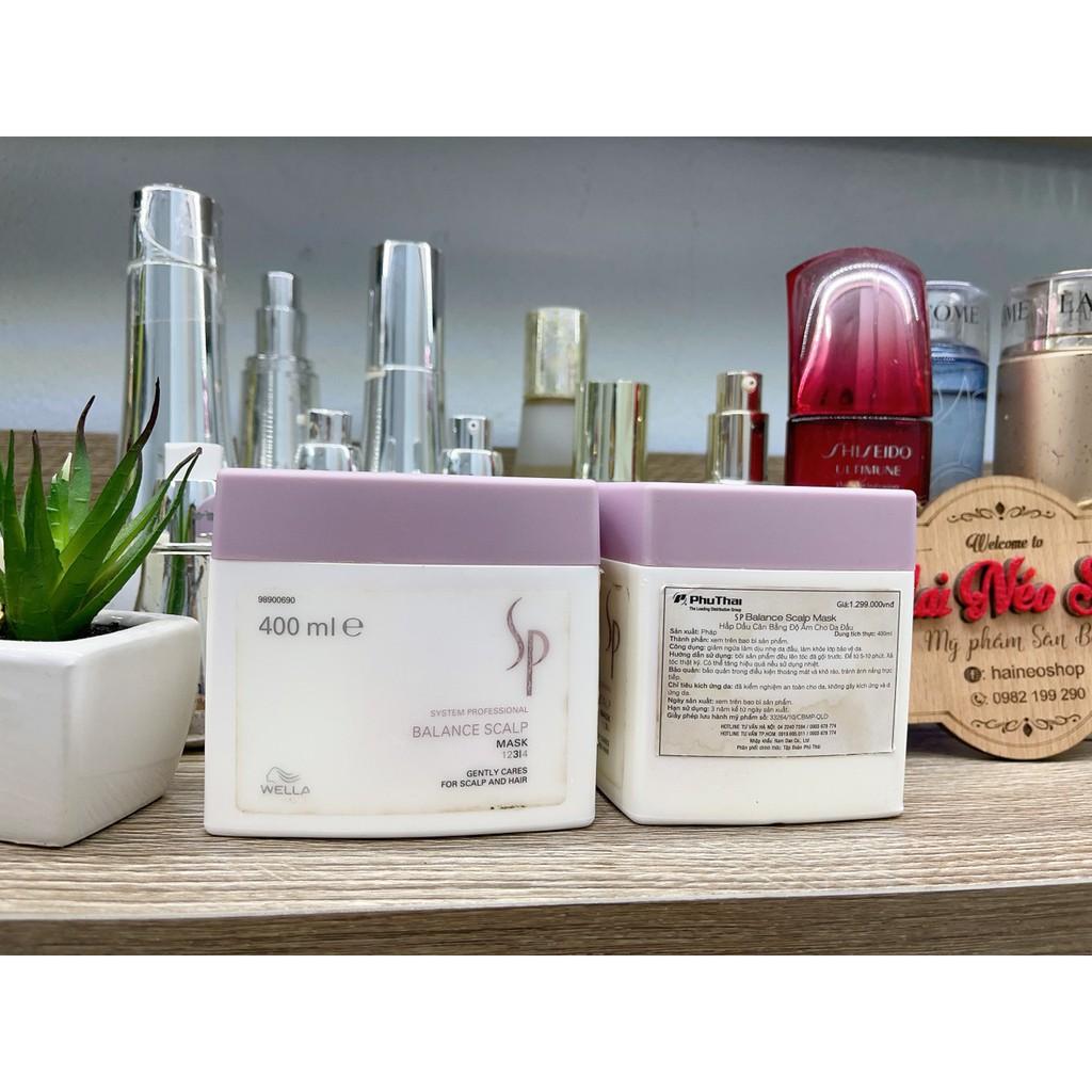 Hấp dầu tăng cường sức sống cho tóc và da đầu dầu, nhạy cảm, xử lý hoá chất nhiều WELLA SP BALANCE SCALP MASK