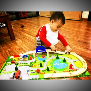 Đồ chơi Mô hình giao thông thành phố bằng gỗ cho bé