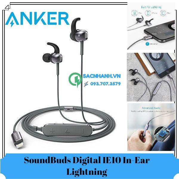 Tai nghe Anker SoundBuds Digital IE10 In-Ear chuẩn Lightning