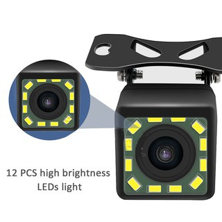 Car Reversing Camera 12 LEDs Night Vision HD 12V Backup Rear Camera