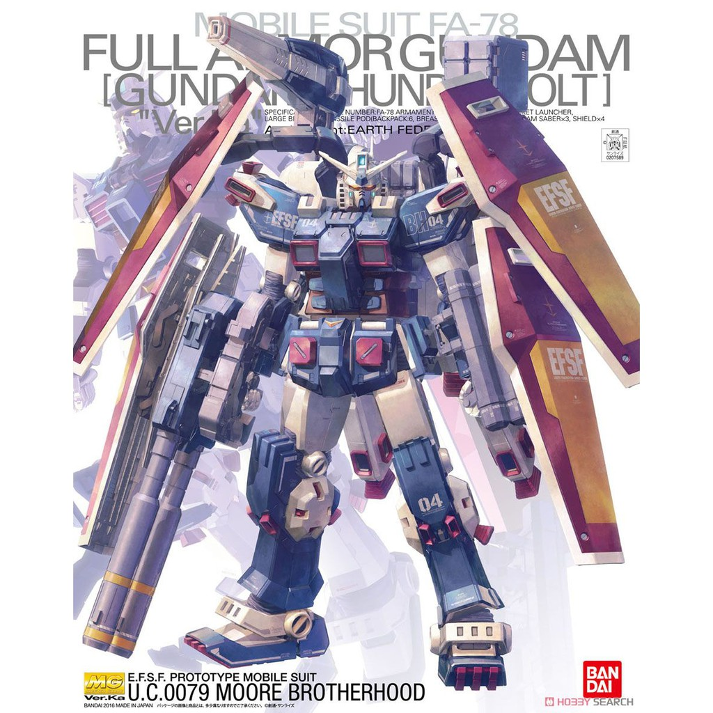 Mô hình Gundam MG FullArmor Thunderbolt ver Ka