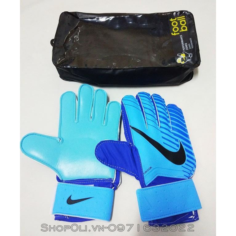 Găng tay thủ môn bóng đá chất lượng cao xanh phối đen