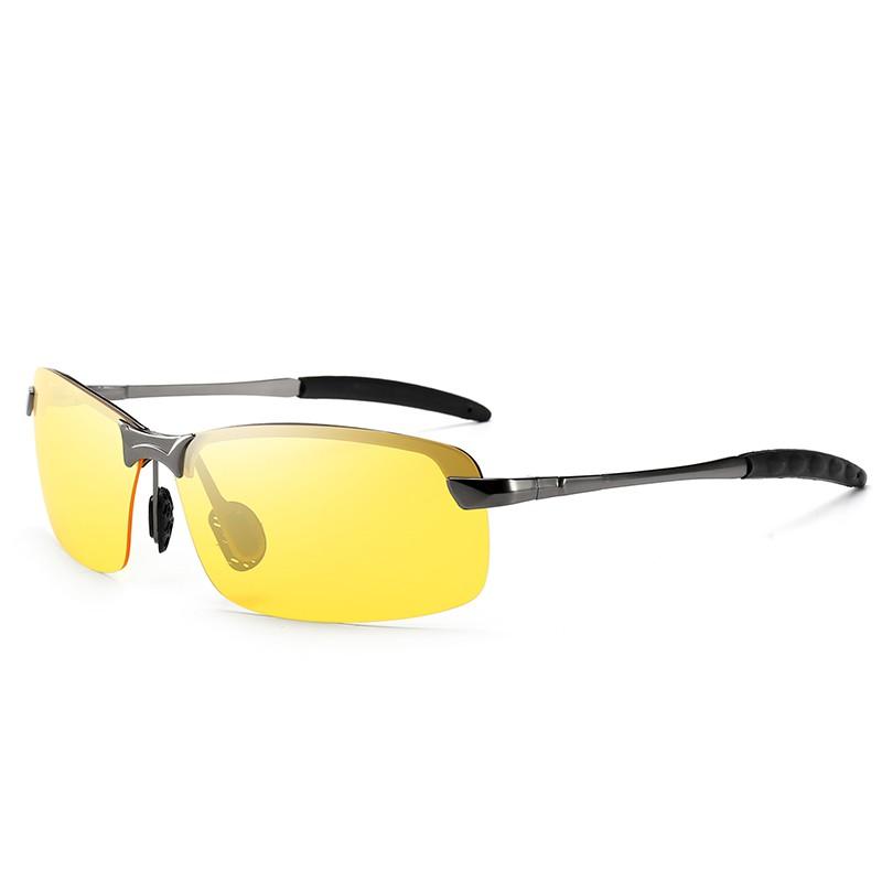 Kính đi ngày và đêm gọng nhôm magiê nhẹ, mắt kính polarized phân cực, chống UV - RiBi Shop