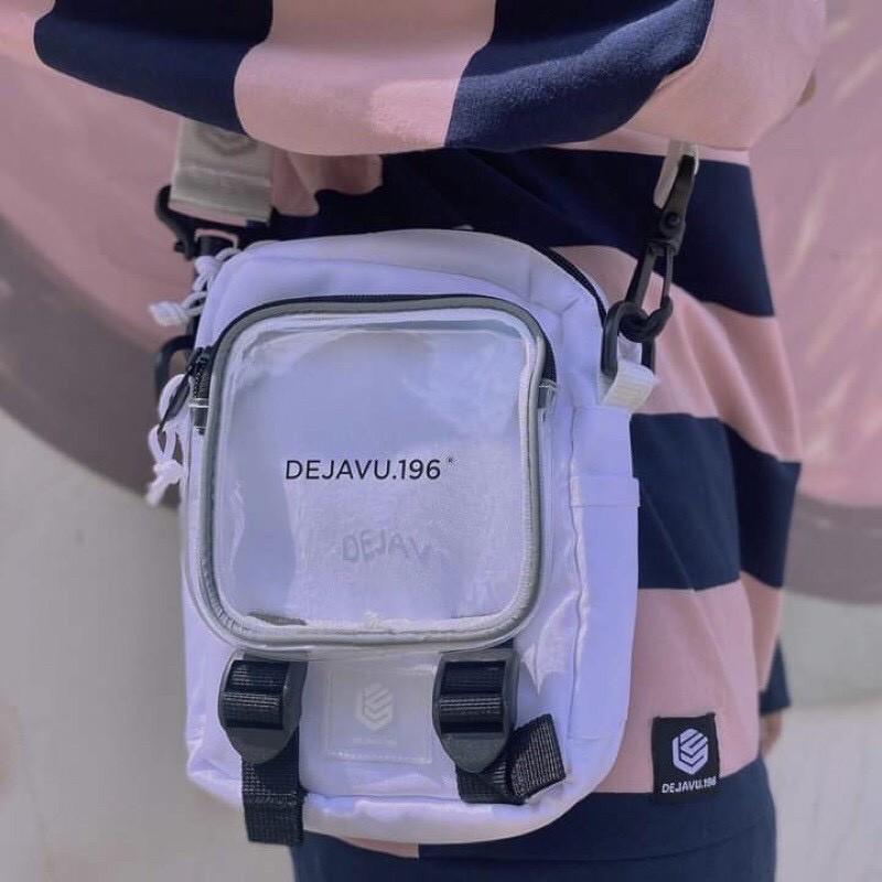 Túi đeo chéo 🦋 DEJAVU 196 túi đeo chéo đeo vai cho nam và nữ chất vải Canvas dáng Unisex 2 màu vải cứng giữ form túi đẹp