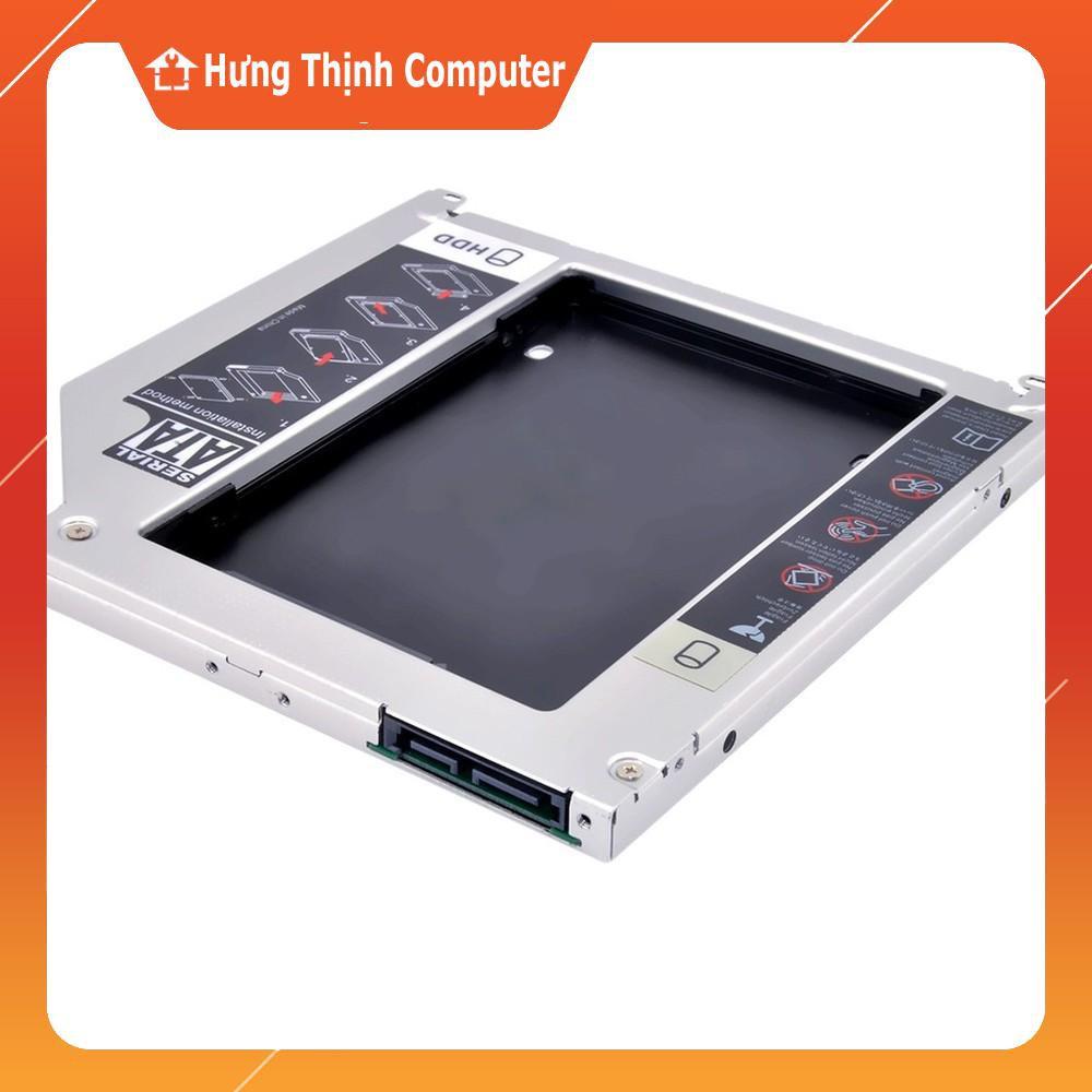 [Nhập ELCLMAY Hoàn 30K Xu Đơn Từ 200K]Khay Ổ Cứng Caddy Bay 9.5mm – 12.7mm Siêu Mỏng (Gắn Ổ Cứng Thay Ổ Quang Laptop) Giá chỉ 90.000₫