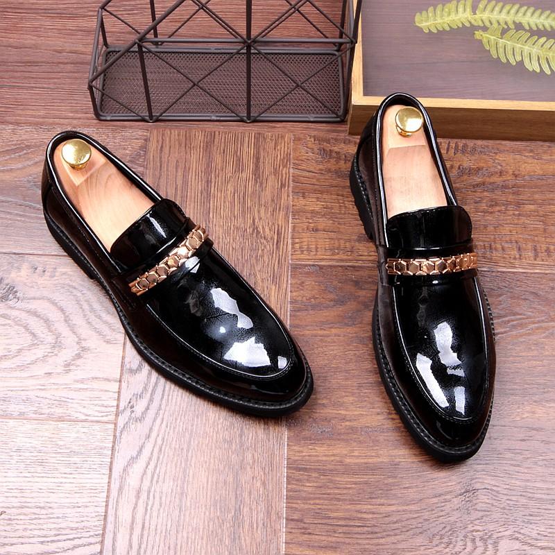 Hàng nhập khẩu: Giày Lười Thời Trang Nam Wenz cao 2Cm Mũi Tròn Pc Hàn Quốc Giày Dép Nam Chất Liệu Da Pu 2, (MiH188 t0094