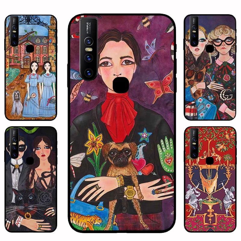 Vivo Y85 Y91 Y93 Y95 Y95i Y12 Y15 V15 V15 Pro V11 V11i Bohemian style Caisng Soft Case