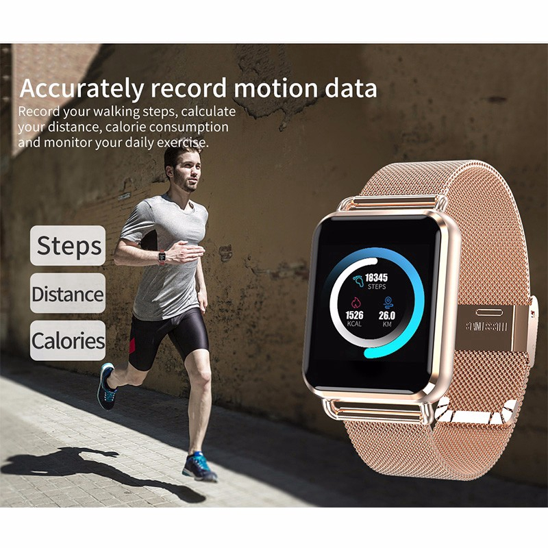 [COD]♥Z60 Smart Watch 1.3inch Color Screen Heart Rate Monitor Pedometer Smart Band
