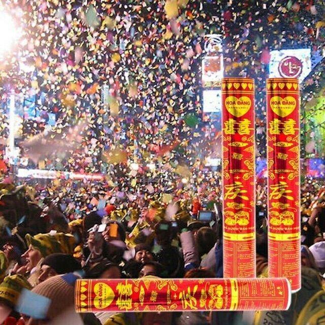 Dài 80cm Cây pháo hoa giấy cho tiếng nổ giòn giã góp phần làm thêm không khí lễ hội, sinh...