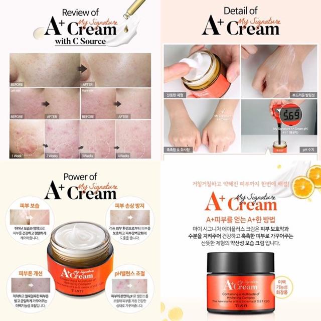Kem Dưỡng Da Tia'm My Signature A+ Cream - 2568867 , 554947662 , 322_554947662 , 250000 , Kem-Duong-Da-Tiam-My-Signature-A-Cream-322_554947662 , shopee.vn , Kem Dưỡng Da Tia'm My Signature A+ Cream