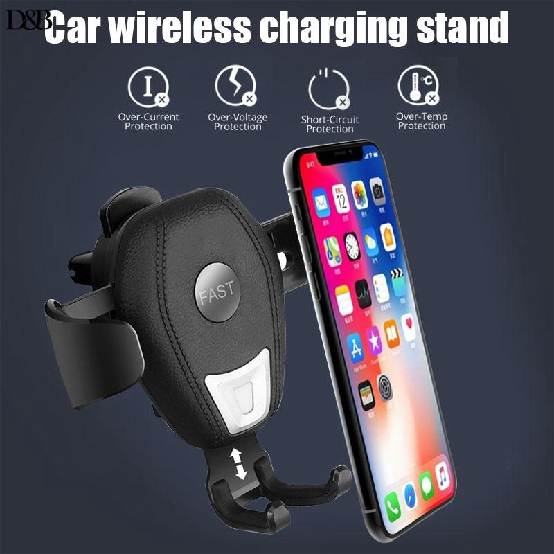 ❤Donba Car Wireless Charging Stand Holder Vehicle Gravity Bracket Universal Automatic Clamping Support CW3