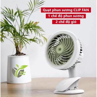 Quạt phun sương mini kẹp bàn CLIP FAN 3 chế độ quạt phun sương tích điện đa năng