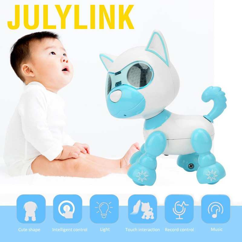 Julylink Robot Dog Pet Toy Smart Kids Intelligent Walking Sound Puppy Record Educational Gift electronic toys