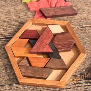 Bộ đồ chơi lắp ráp các khối gỗ nhiều hình dạng dành cho các bé