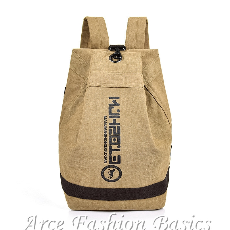 Korean Canvas Backpack Men Large Causal Travel Laptop Bag Student School Bags
