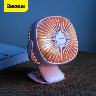 [GIÁ HỦY DIỆT] Quạt mini Quạt tích điện mini để bàn có đèn kẹp bàn - Baseus Box clamping Fan - PIN 2000mAh CHÍNH HÃNG